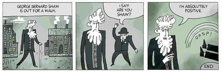 George Bernard Shaw Makes A Joke