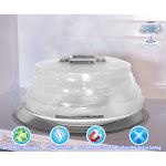 Microwave Collapsible Hovering Anti Splattering Magnetic Food Lid Cover Guard - Splatter Lid with Steam Vents & Microwave Safe Magnets Dishwasher Safe