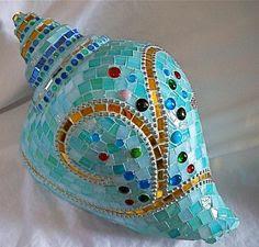 mosaic conch shell