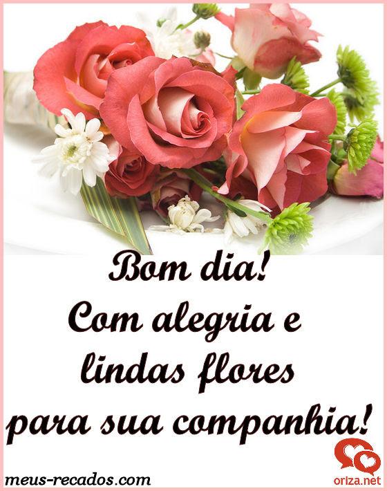 Flores Com Mensagem De Bom Dia Frases E Mensagens Em