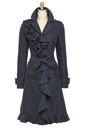 ruffle trench (frequently seen on the lovely and classy Rachel McAdams)
