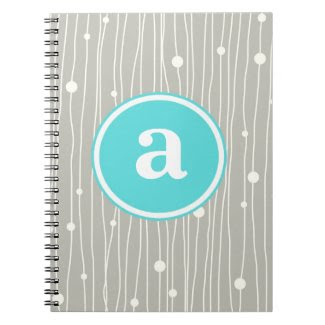 Monogram Dots and Lines notebook