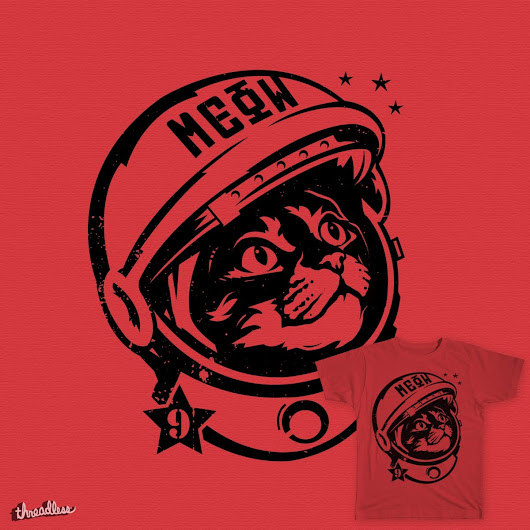 "Space Cat - ""Believe"" on Threadless"