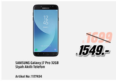 SAMSUNG Galaxy J7 Pro 32GB Siyah Akıllı Telefon 1549TL
