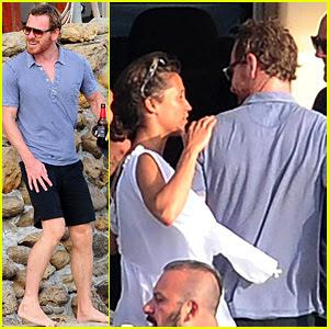 Michael Fassbender & Alicia Vikander Continue European Vacation in Ibiza!