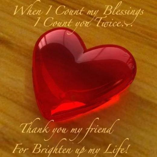 Thank You My Friend Quotemessagefriendship Day Inspirational
