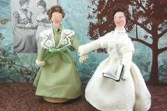 Helen Keller and Anne Sullivan Macy Historical  Art Doll Miniatures
