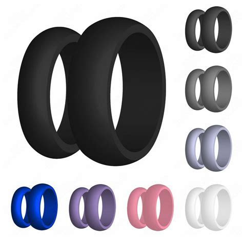 Silicone Wedding Band Engagement Ring FlexFit
