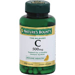 Nature's Bounty Pure Vitamin C, 500 mg, Time Released Capsules - 100 count