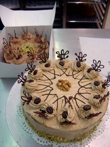 Chocolate and Mocha Gateau