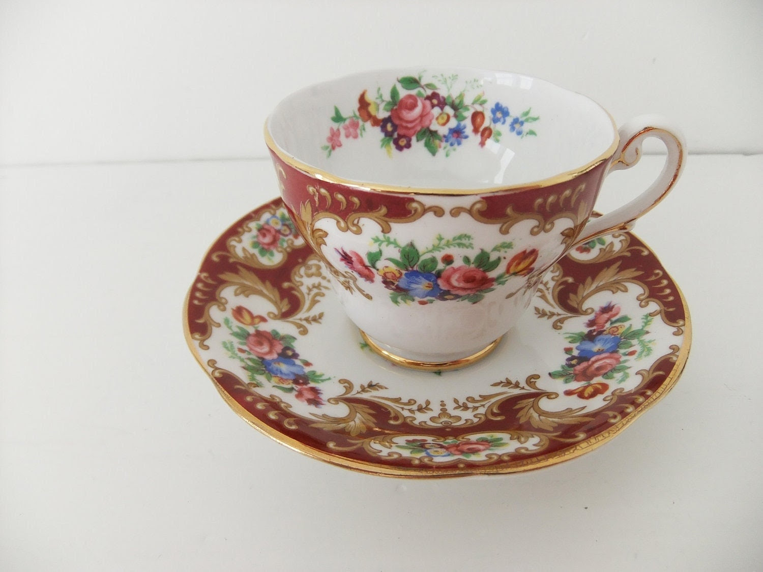 Vintage China Coffee Cup and Saucer Royal by peonyandthistle
