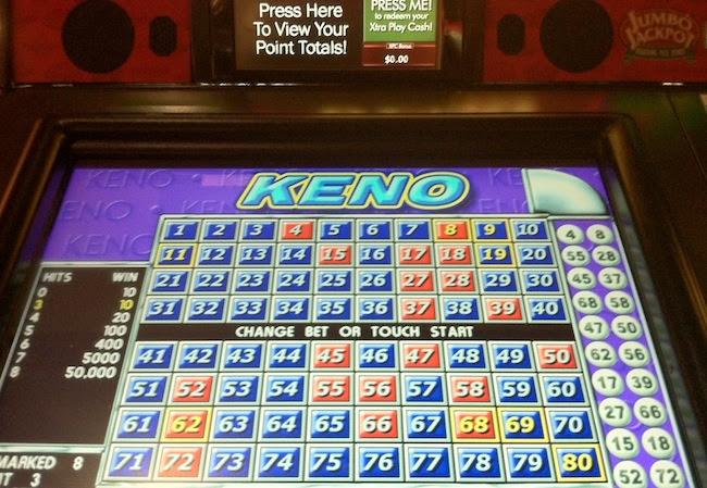 Keno slot machine strategy