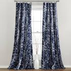 Lush Décor Forest Window Curtain Panel Set, Navy