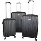 Karriage-Mate Black Hardshell Luggage Set