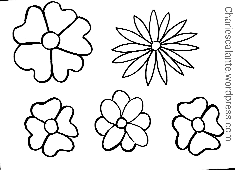Flores Primavera Para Colorear - Flores Imagenes