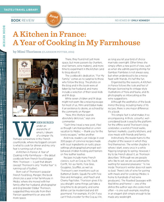 Book Review: A Kitchen In France by Mimi Thorisson - Emily Kennedy Writes