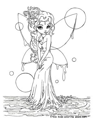 printable beautiful fairy on water coloring in pages for kidsfree printable coloring pages for kids