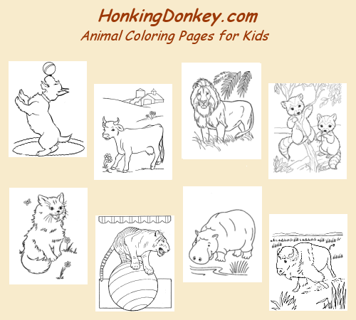 Animal Coloring Pages | HonkingDonkey
