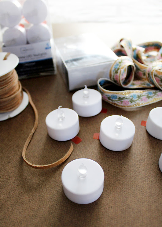 How to Make Mini Tealight Ornaments