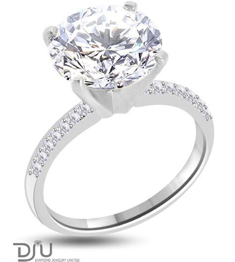 5.27 carat E SI1 Round Solitaire Diamond Engagement Ring