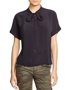 Sanctuary Katie Tie Neck Blouse