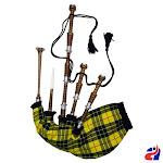 Scottish Highland Bagpipe Macleod of Lewis Tartan Natural Finish Silver Mounts - Macleod of Lewis