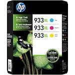 HP 933XL Combo-Pack Ink Cartridge, Cyan/Magenta/Yellow - 3-pack