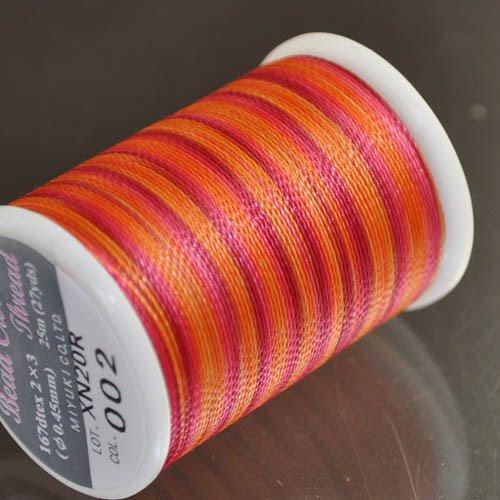 "74422040-02 Thread - #8 Miyuki Crochet Thread - Mandarin Cherry Jubiliee (Spool) - <font color=""#FF0000"">Discontinued</font> - 50% off!"