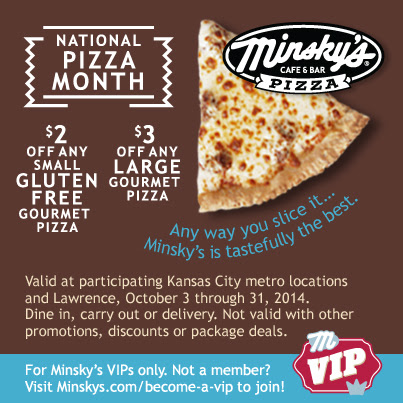 Save During Pizza Month with Minsky's! - Minsky's Pizza