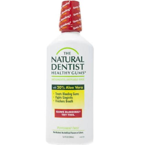 The Natural Dentist Healthy Gums Antigingivitis Rinse, Peppermint Twist - 16.9 fl oz bottle