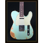 Fender Custom Shop 1963 Heavy Relic Compound Radius Telecaster in Aged Surf Green