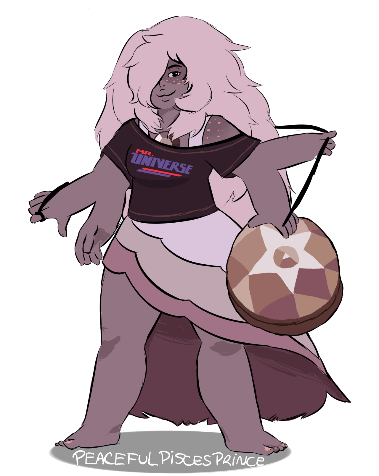 Was so funny do this. My version of Smokey Quartz with Rose…
