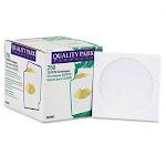 Quality Park 62905 CD/DVD Sleeves White 250 per Box
