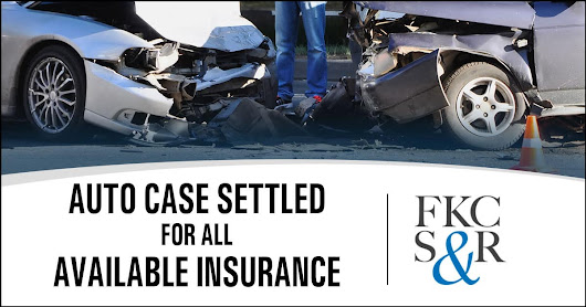 Auto case settled for all available insurance within few months of retainer