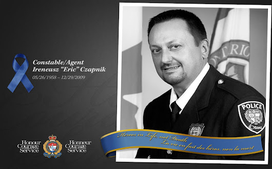 "Ottawa Police on Twitter: ""We remember Cst. Eric Czapnik, who died in the line of duty, on December 29, 2009. """