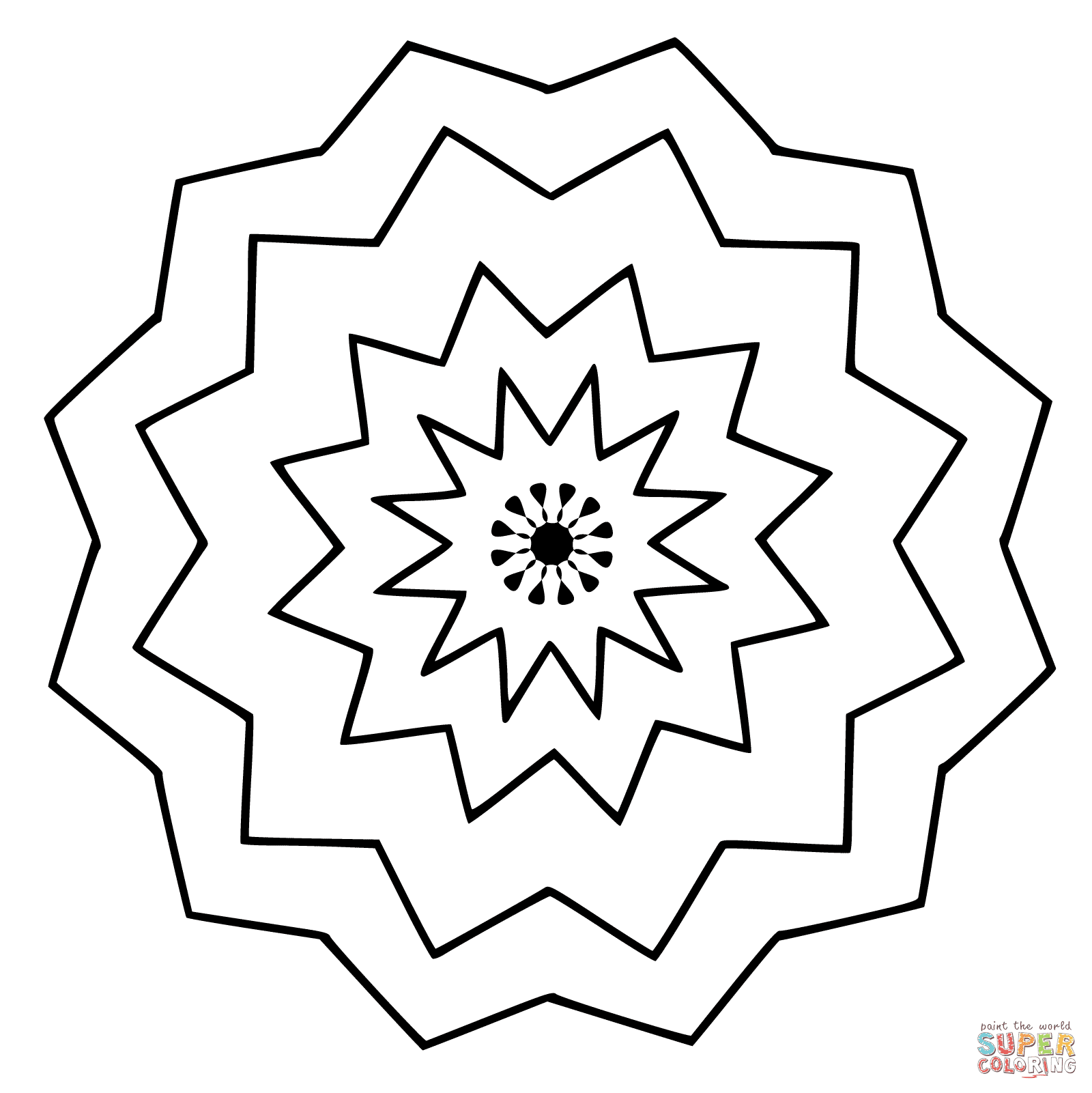 Mandala Flower Coloring Pages For Kids