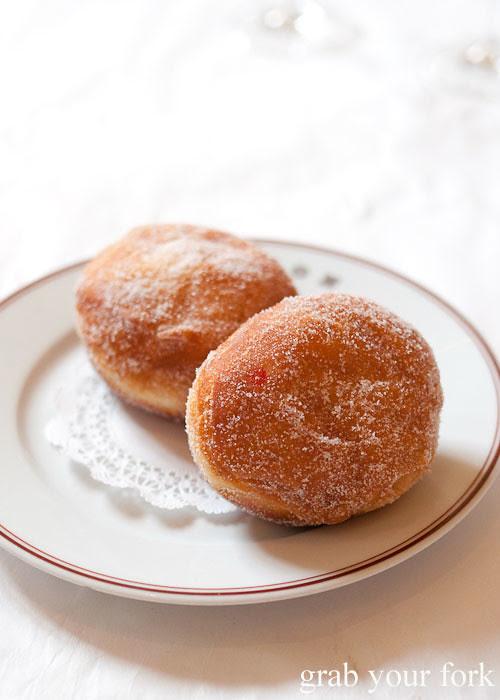 cherry beignet donut of the day at bouchon bistro beverly hills la los angeles