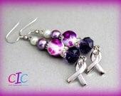 Purple Domestic Violence - Epilepsy Lupus Awareness Earrings
