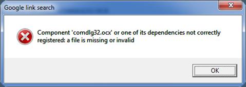 comdlg32.ocx missing error