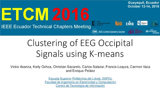 Presentation of the article Clustering of EEG Occipital Signals usin…
