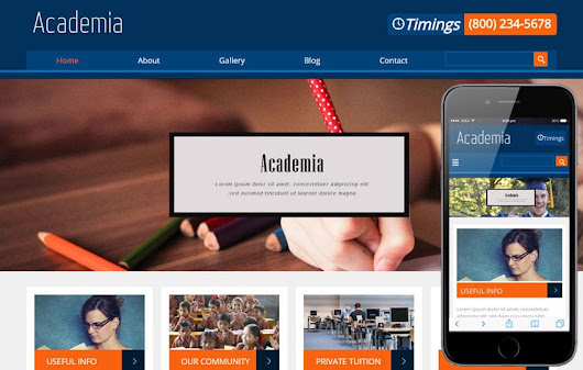 Academia Education Mobile Website Template by w3layouts