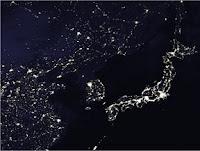 Satellite Photo of Korean Peninsula at Night--Symbol of the Digital Divide