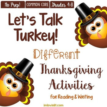 Let's Talk Turkey! A DIFFERENT Thanksgiving ELA & Reading