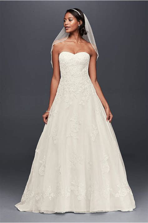Extra Length Strapless Sweetheart Wedding Dress   David's