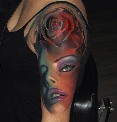 amazing girls face tattoo tattoo design ideas