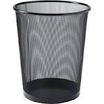 LLR 52770 Lorell Black Steel Mesh Round Waste BinLLR52770