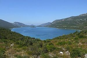English: Adriatic Sea in Croatia - view from p...