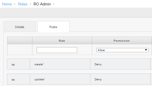 Example RO Rules