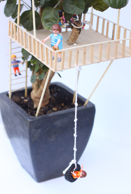 Carla's delightful #DIY houseplant treehouse