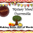 Fall Mystery Word Unscramble (Making Words)